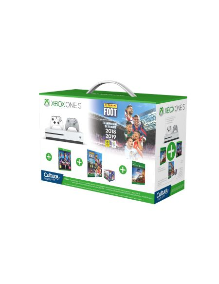 Pack Xbox One S Panini [2 manettes + FIFA19 + Forza horizon 4 + 1 album Panini + 250 stikers] - Exclusivité Cultura