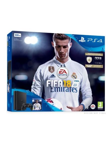 Pack PS4 Slim 500 Go Noire + FIFA 18