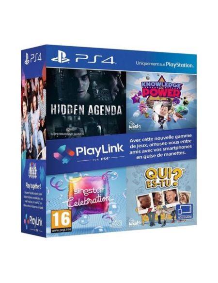 Pack Playlink Qui Es-tu+knowledge Is Power+singstar Celebration+hidden Agenda