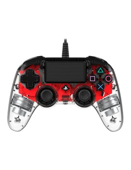 Manette Filaire Officielle Ps4 Clear Red