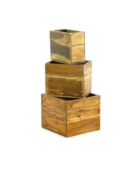 Caisse de rangement . 3 C.Rangement Gigogne 37x35 CM recyclées