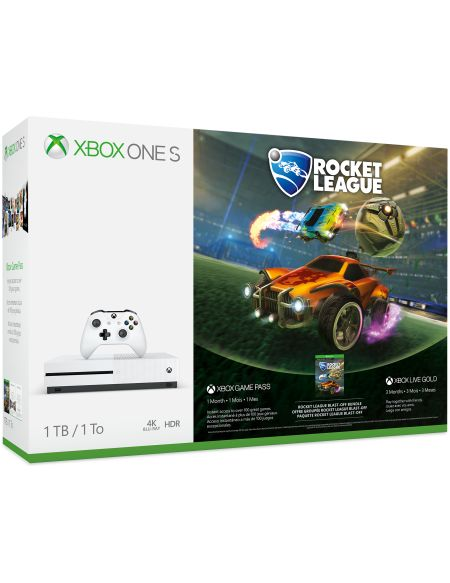 Console Xbox One S 1 To – Pack Rocket League