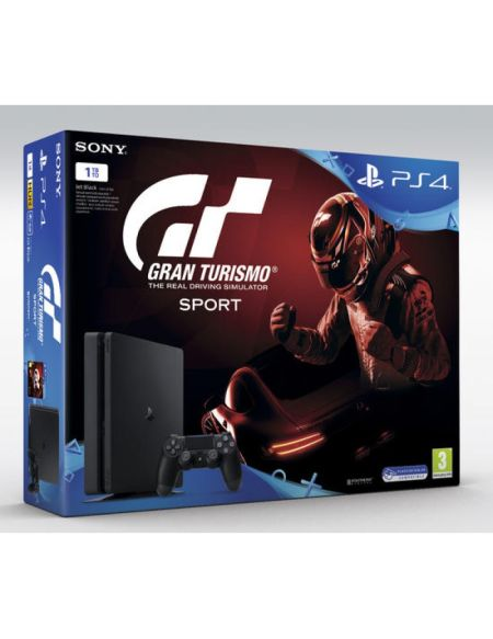 Pack PS4 Slim 1 To Noire + Gran Turismo Sport + That's You (voucher)