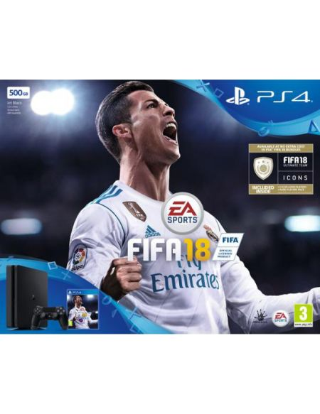 Pack PS4 Slim 500 Go Noire + FIFA 18