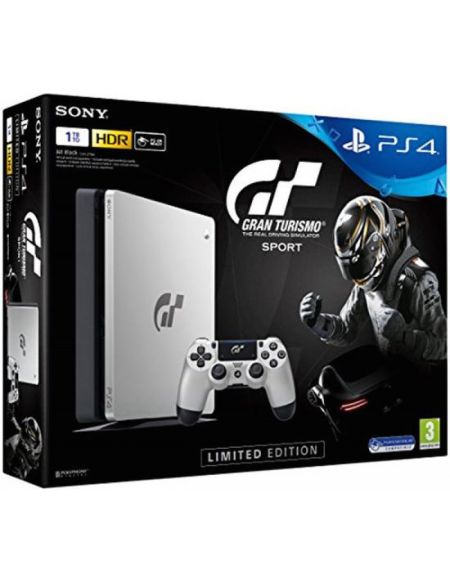 Pack Ps4 Slim 1 To Argent + Gran Turismo Sport + That's You (voucher)