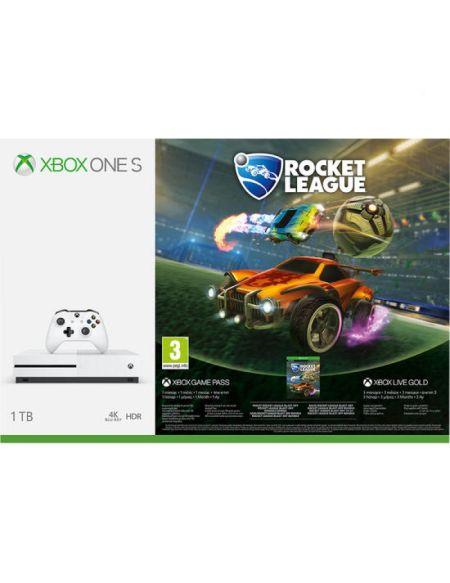 Pack Xbox One S 1to Blanche + Rocket League + 3m Live