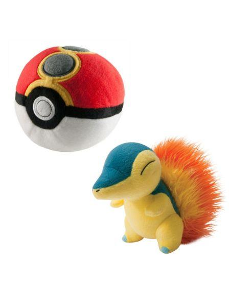 Peluche - Pokémon - Pack Pokéball + Héricendre - Exclusif Micromania