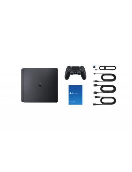 Pack PS4 Slim 1 To Noire + GT Sport + Call of Duty WWI II + 2nde Dualshock 4 + Qui Es-tu? (voucher)