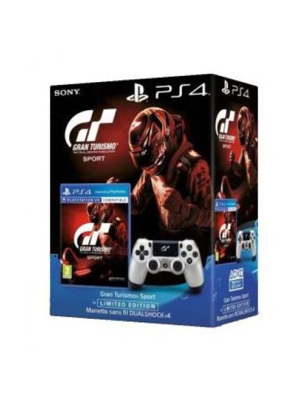 Gran Turismo Sport + Dual Shock 4 Argent Gt Sport + That's You (voucher)