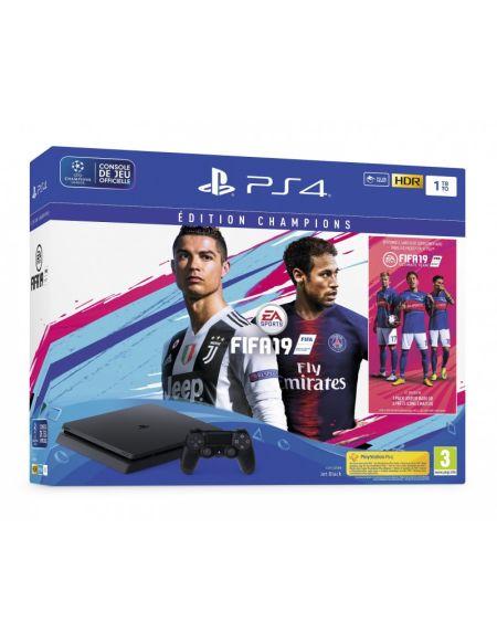 Pack Ps4 Slim 1to Noire + FIFA 19 Champions - Exclusivité Micromania