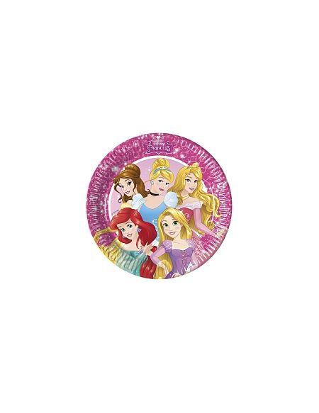 8 Assiettes Carton 23 cm - Disney Princesses