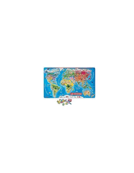 Janod - Puzzle Monde Magnétique