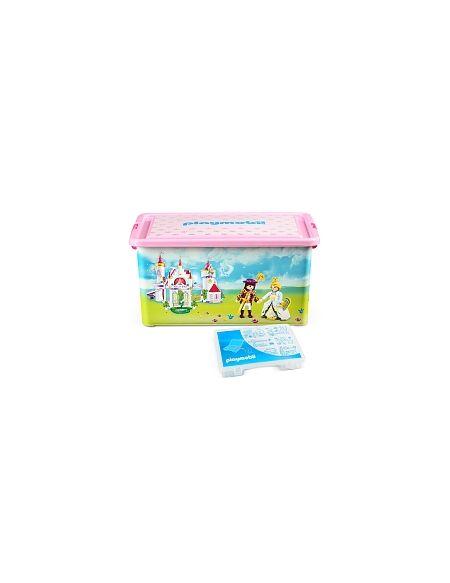 My Note Deco - Boîte Plastique 23L - Playmobil Princesses