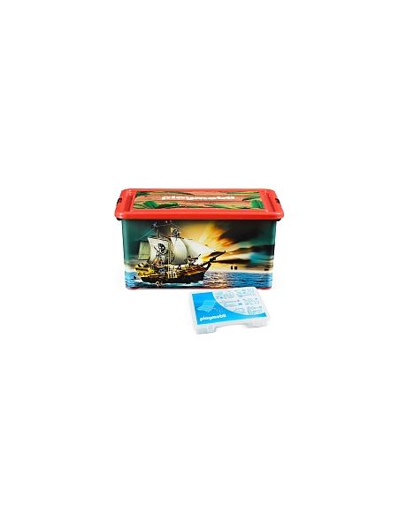 My Note Deco - Boîte Plastique 23L - Playmobil Pirates