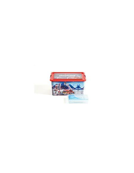 My Note Deco - Boîte Plastique 23L - Playmobil Pompiers