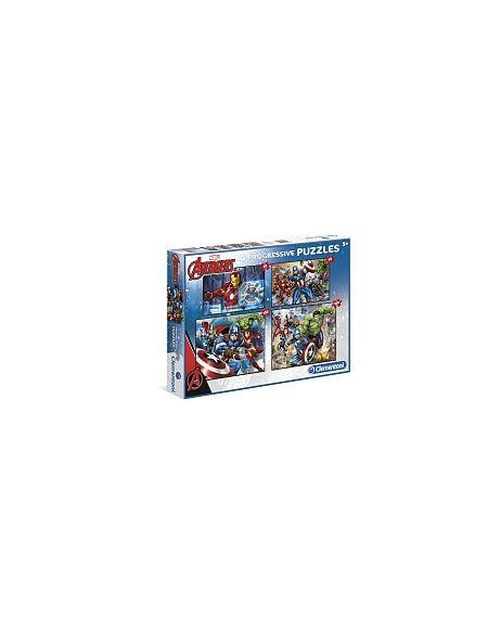 Puzzle Progressif 4 en 1 - Avengers
