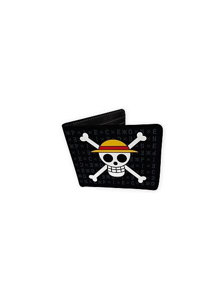 Set Porte-feuille & porte-clés One Piece - Skull Luffy