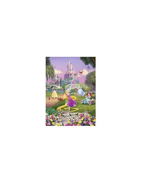 LDD Komar - Sticker mural - Disney - Le Coucher de Soleil des Princesses Disney - 184 x 254 cm