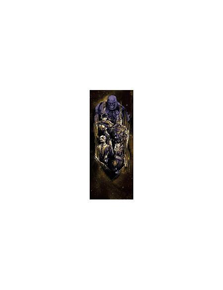 LDD Komar - Sticker mural - Avengers Badge Thanos - 100 x 250 cm