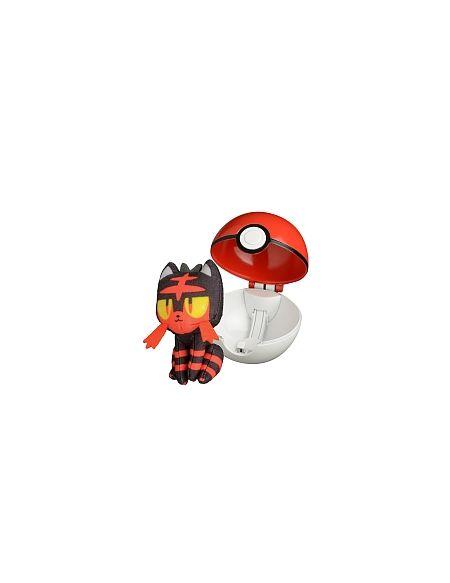 Lanceur Poké ball + Peluche 6 cm - Pokémon - Flamiaou