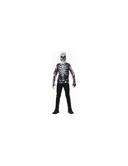 Déguisement - Fortnite - T-shirt et cagoule Skulltrooper - Taille XL (9-10 ans)