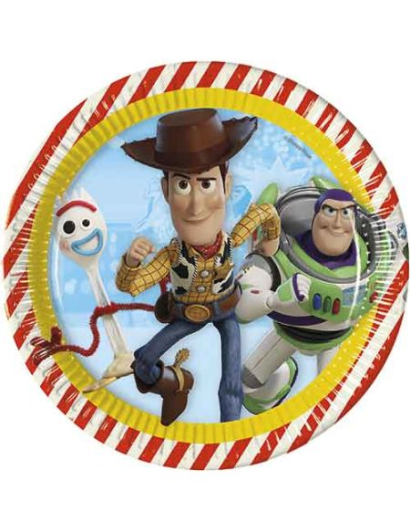 8 assiettes 23 cm - Toy Story