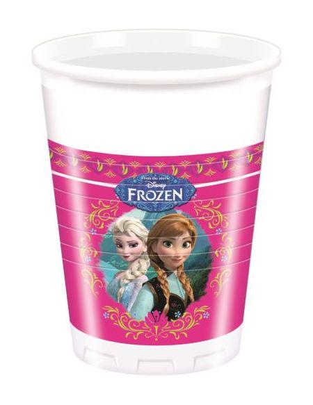 8 Gobelets Plastique 200 ml - La Reine Des Neiges