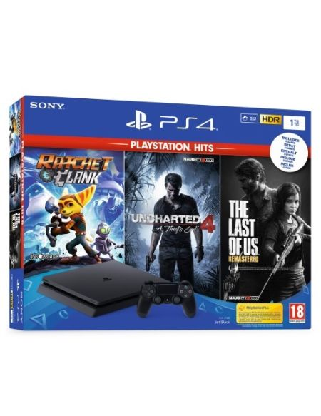 Pack Console PS4 1To + 3 Hits PS4