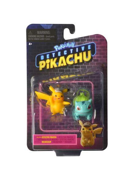 Pokémon - Détective Pikachu - Figurines Pikachu et Bulbizarre