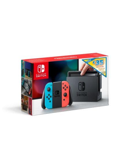 Console Nintendo Switch avec Joy-Con rouge néon et bleu néon + code de téléchargement Nintendo eShop 35