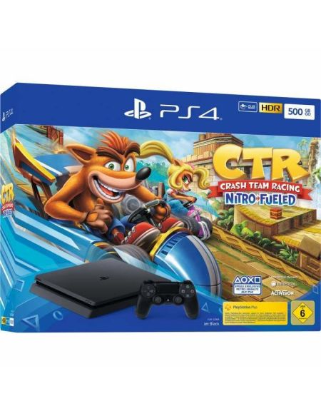 Console PS4 500Go Noire + jeu Crash Team Racing