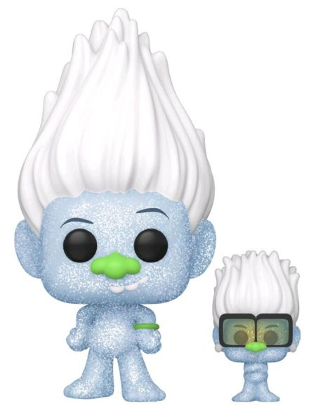 Figurine Funko Pop! N°882 - Trolls World Tour - Hip Hop Guy En Diamant Avec Mini