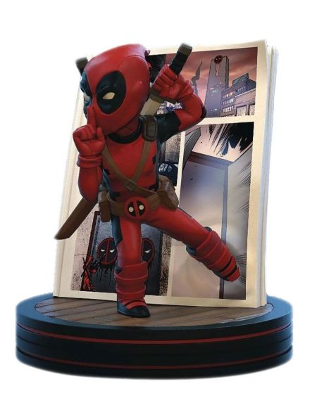 Figurine Q-fig - Marvel - Diorama Deadpool 4d 10 Cm