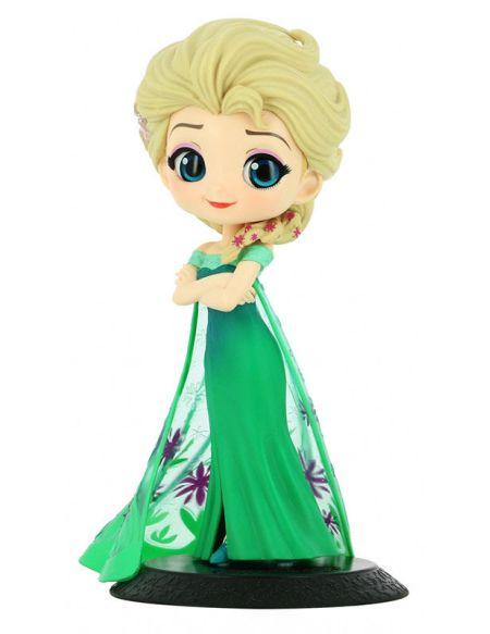 Figurine Q Posket - La Reine Des Neiges - Elsa Surprise Coordinate (version A)