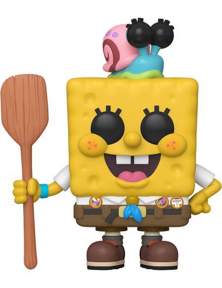 Figurine Funko Pop! N°916 - Bob L'eponge - Squarepants Avec Gary Dans Camping
