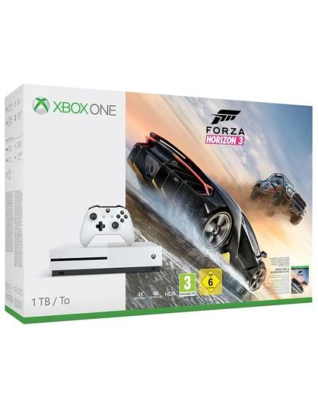 Pack Xbox One S 1 To Blanche + Forza Horizon 3 (digital)