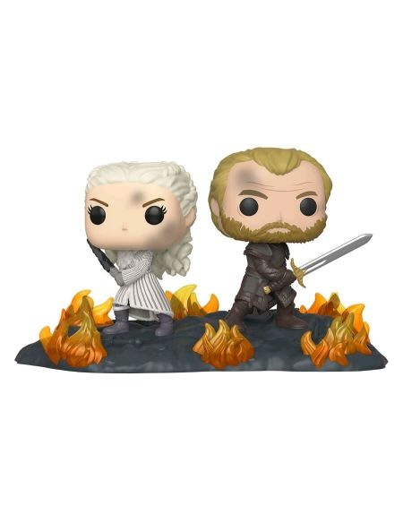 Figurine Funko Pop! Ndeg86 - Game Of Thrones - Daenerys Et Jorah Dos a Dos Avec ep