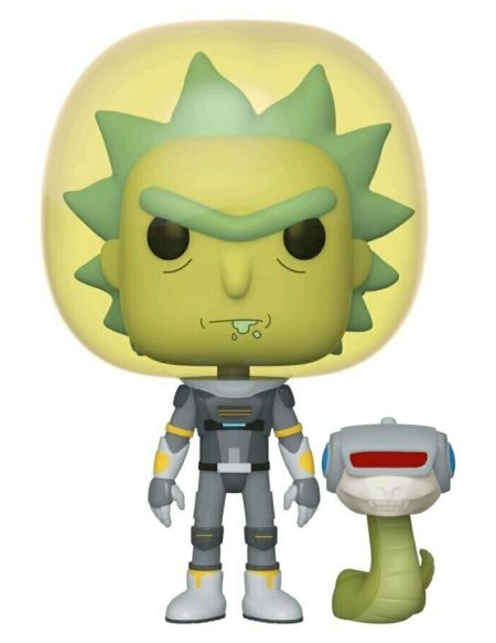 Figurine Funko Pop! N°689 - Rick Et Morty - Rick Costume Spatial Avec Serpent