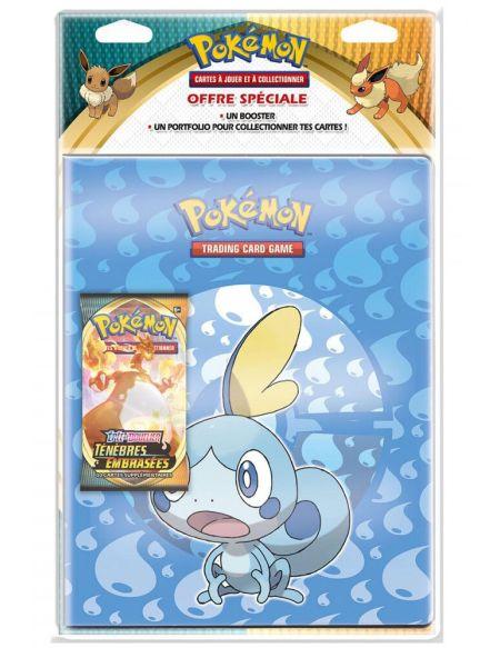 Pack Cahier Range Cartes Booster - Pokémon - Epée et Bouclier 3
