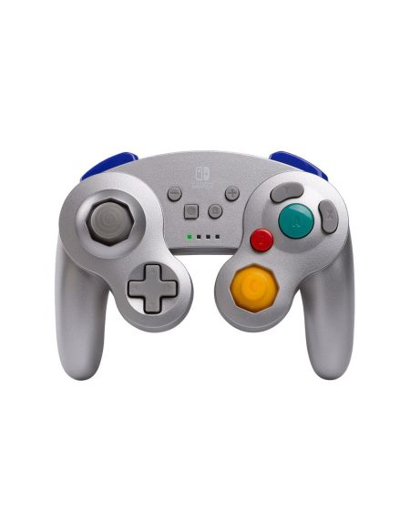 Manette sans fil - Nintendo Switch - GameCube Style Silver