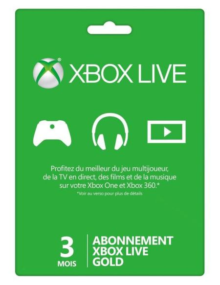 Xbox Live 3 mois Xbox 360 - Xbox One