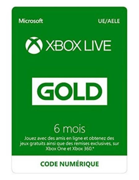 Xbox Live 6 mois Xbox 360 - Xbox One 2018