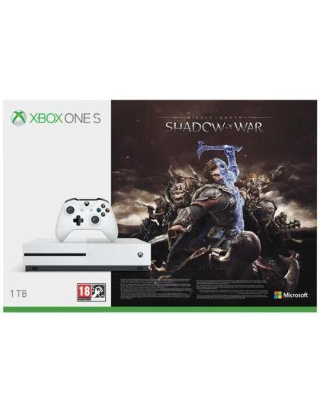 Pack Xbox One S 1to Blanche + L'ombre De La Guerre (token)
