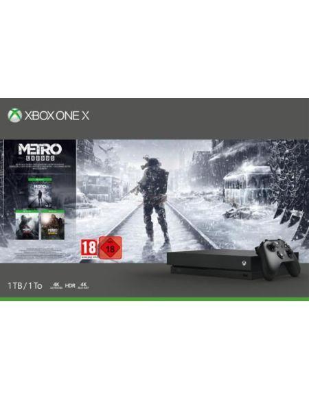 Pack Xbox One X 1to Noire + Metro Exodus Saga Bundle (telechargement)
