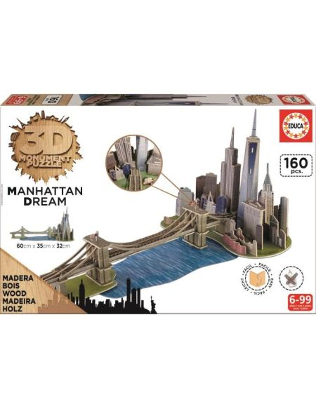 EDUCA Puzzle 3D Monument - Puzzle Manhattan