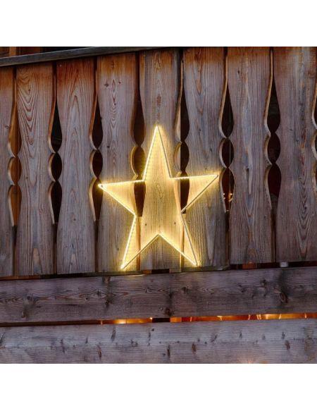 LOTTI Décoration étoile 64 cm - 150 Strip LED - Lumière fixe blanc chaud - Transformateur 12 V