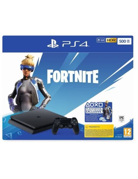 Pack Ps4 Slim 500 Go Noire + Fortnite (voucher)