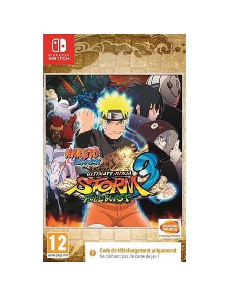 Naruto Ultimate Ninja Storm 3 Full Burst Jeu Nintendo Switch - Code in a box