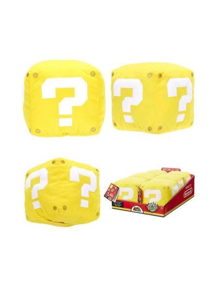 Peluche Nintendo - cube jaune - 8 cm