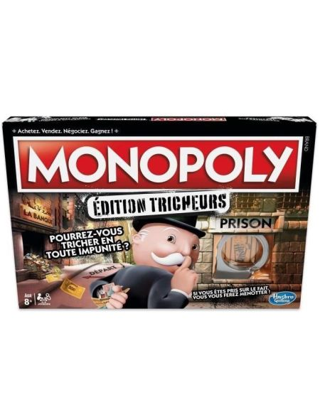 MONOPOLY Hasbro Tricheurs – Jeu de Société – Nouvelle Edition 2018 version fraçaise - E1871